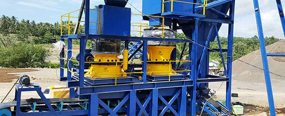 250t/h construction sand aggregates production line in Indonesia