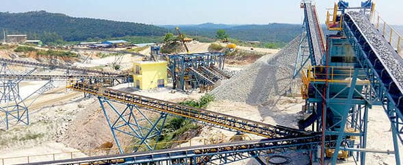 800t/h Construction Aggregates Production Line in Malaysia