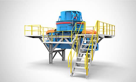 MV Series Sand Making Machine Modular Crushing Plant