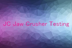 jaw crusher testing