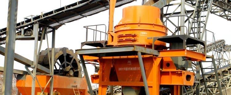vertical impact crusher in railway