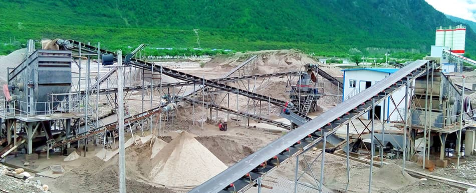 gravel production in Tibet