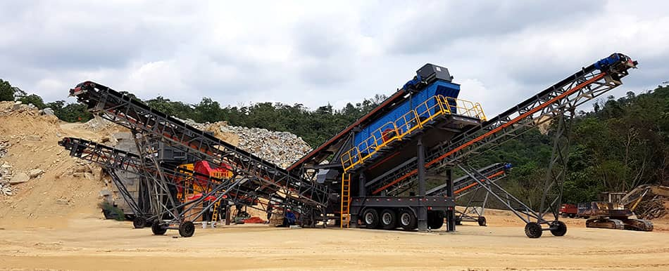 mobile crushing plant for granite crushing in Malaysia