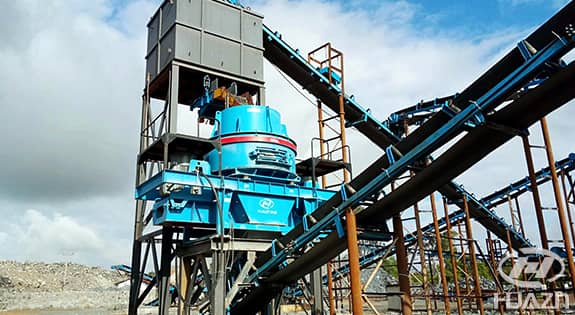 PLS vertical impact crusher application 1