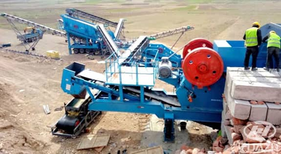 mobile crushing plant application 2