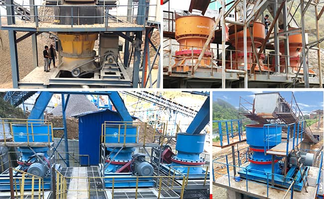 gpy cone crusher customer application