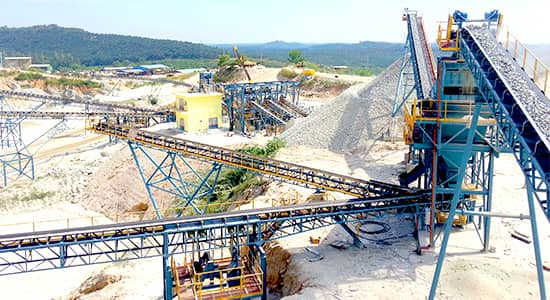 customer site of granite crushing production line