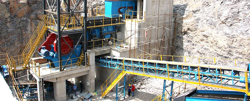 crusher customer site application