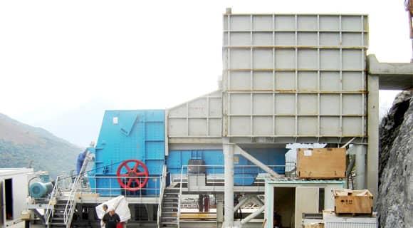 coarse fine crushing production line - BP impact crusher