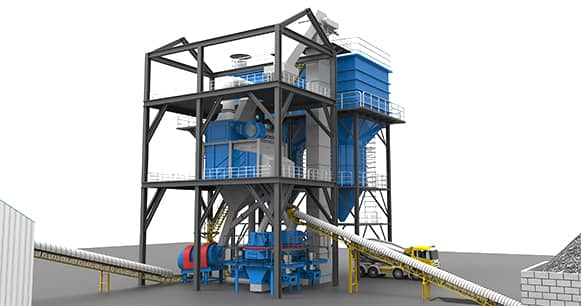 modularized sand production line