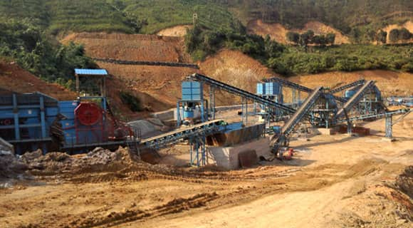 sand and aggregates production line at Laos
