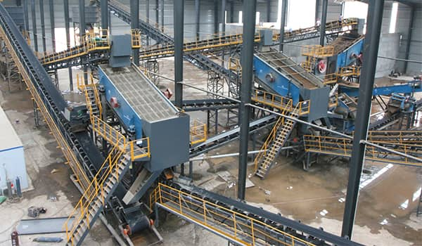 modern and green sand production line