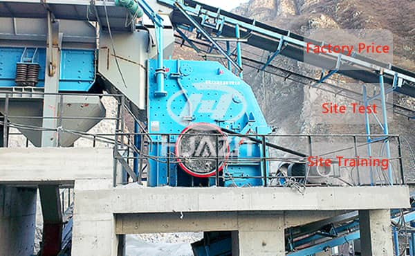 What aggregate can be crushed by impact crusher