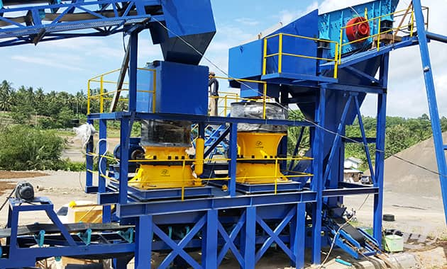 rock cone crusher difference
