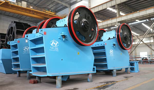 Stone jaw crusher inspection