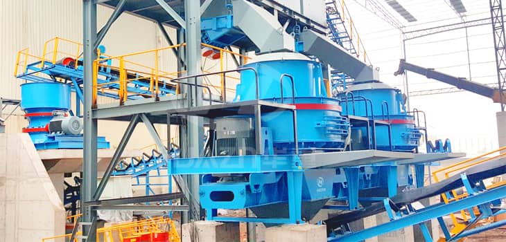 PLS sand making machine feeding size