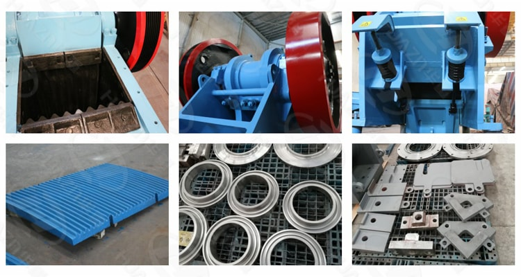 jaw crusher structure component