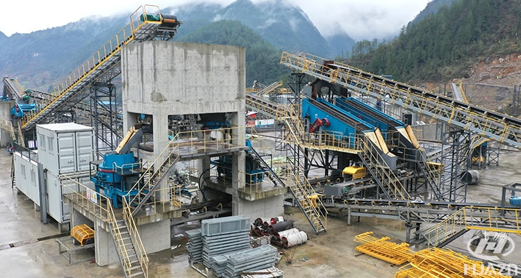 hydropower station sand and stone production line