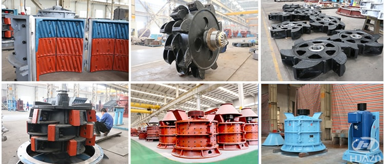 vertical complex crusher wearing parts