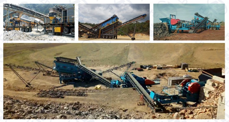 tyred mobile crushing station application