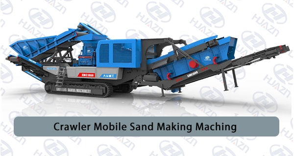 crawler mobile sand making machine