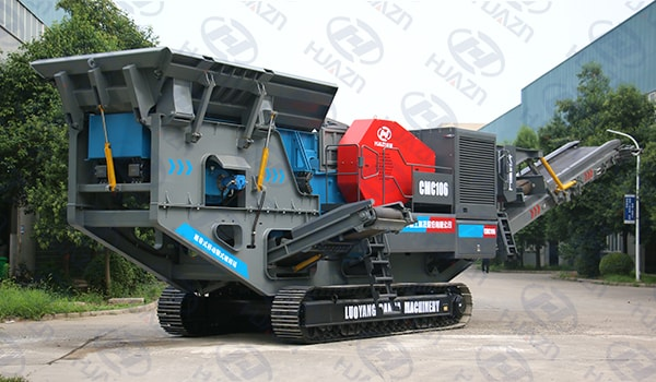 crawler mobile jaw crusher site