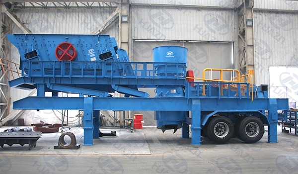 wheel type mobile jaw crusher