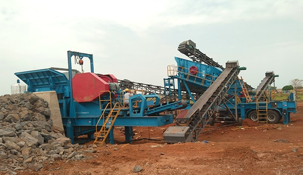 wheel type mobile crusher factory price