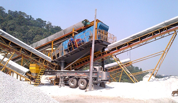 high output mobile stone crusher