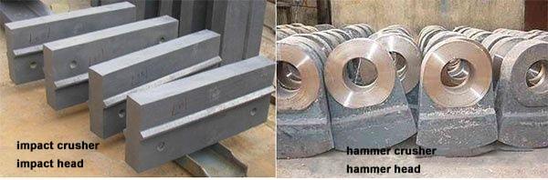 impact hammer crusher hammer head