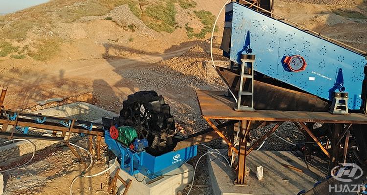 bucket wheel sand washer for sand washing