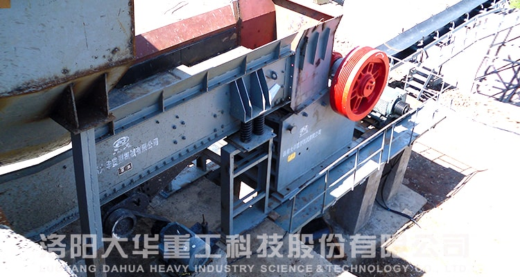 small pe jaw crusher customer site