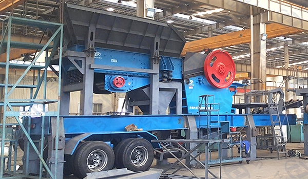 wheel type mobile crushing plant