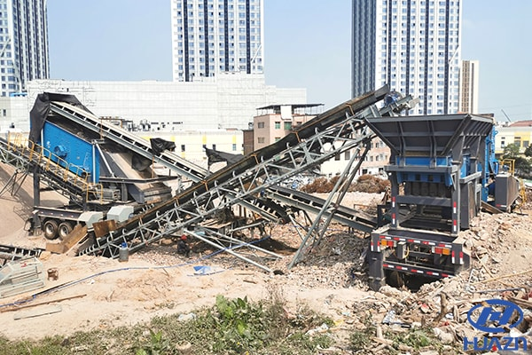 construction waste mobile crusher plant