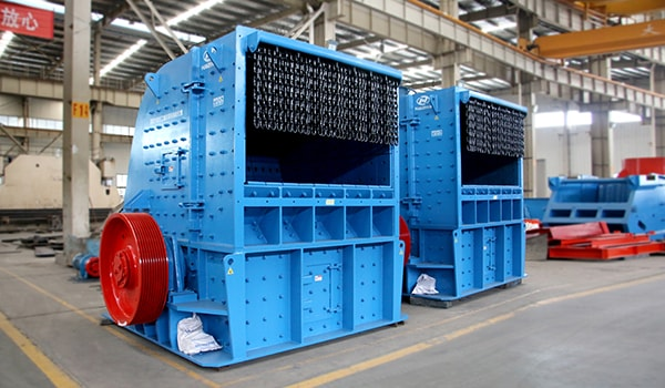 large scale concrete impact crusher