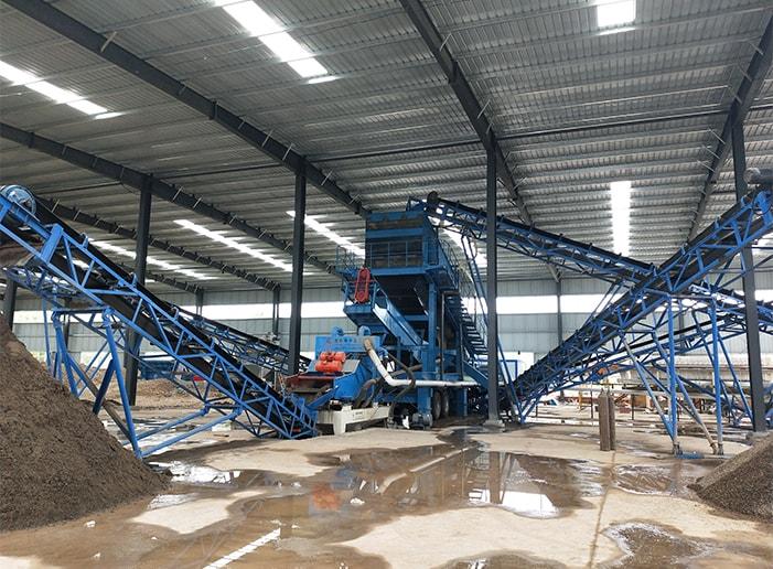 quartz sand stone crushing production line