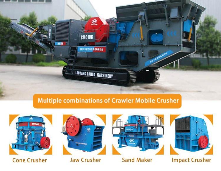 crawler mobile crusher combination