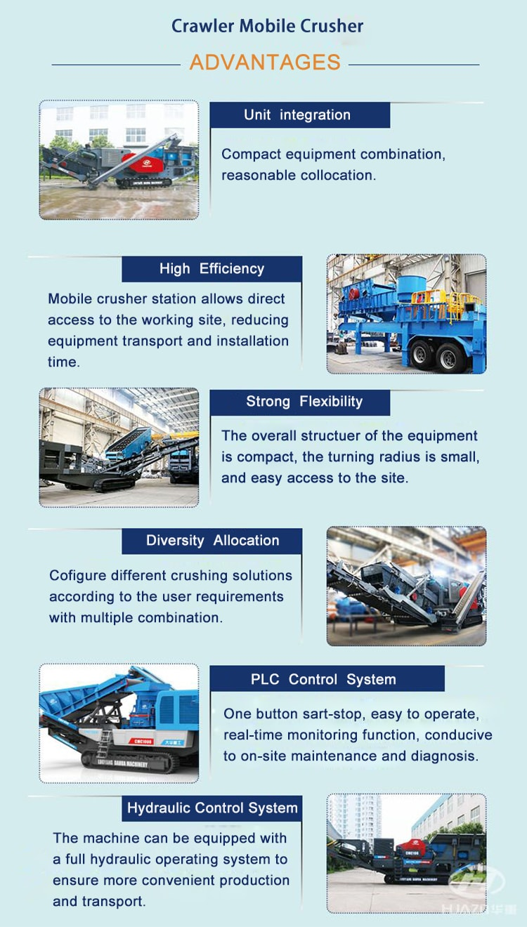 crawler mobile crusher feature and advantage