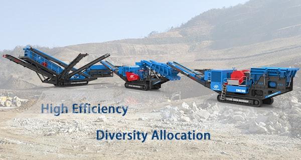 granite mobile crusher high efficiency