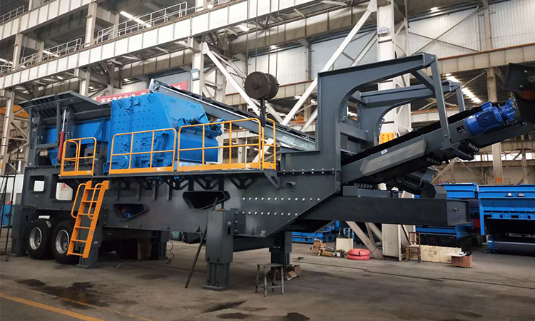 wheel type mobile crushing station