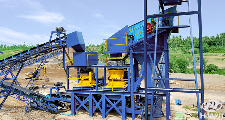stone crushing production line in Indonesia