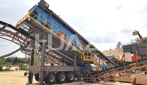 mobile crushing station