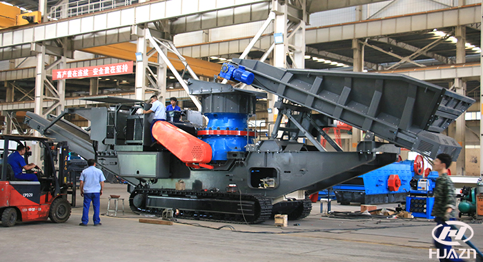 track cone crusher plant