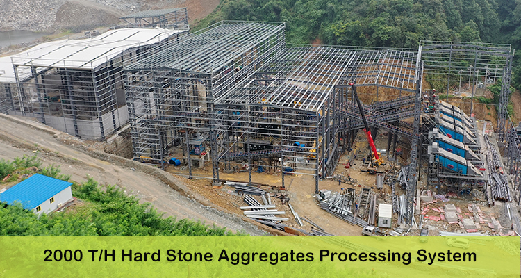 hard stone crushing production line