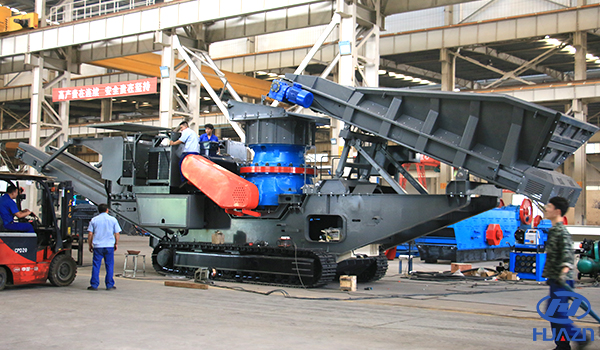 track mounted mobile crusher