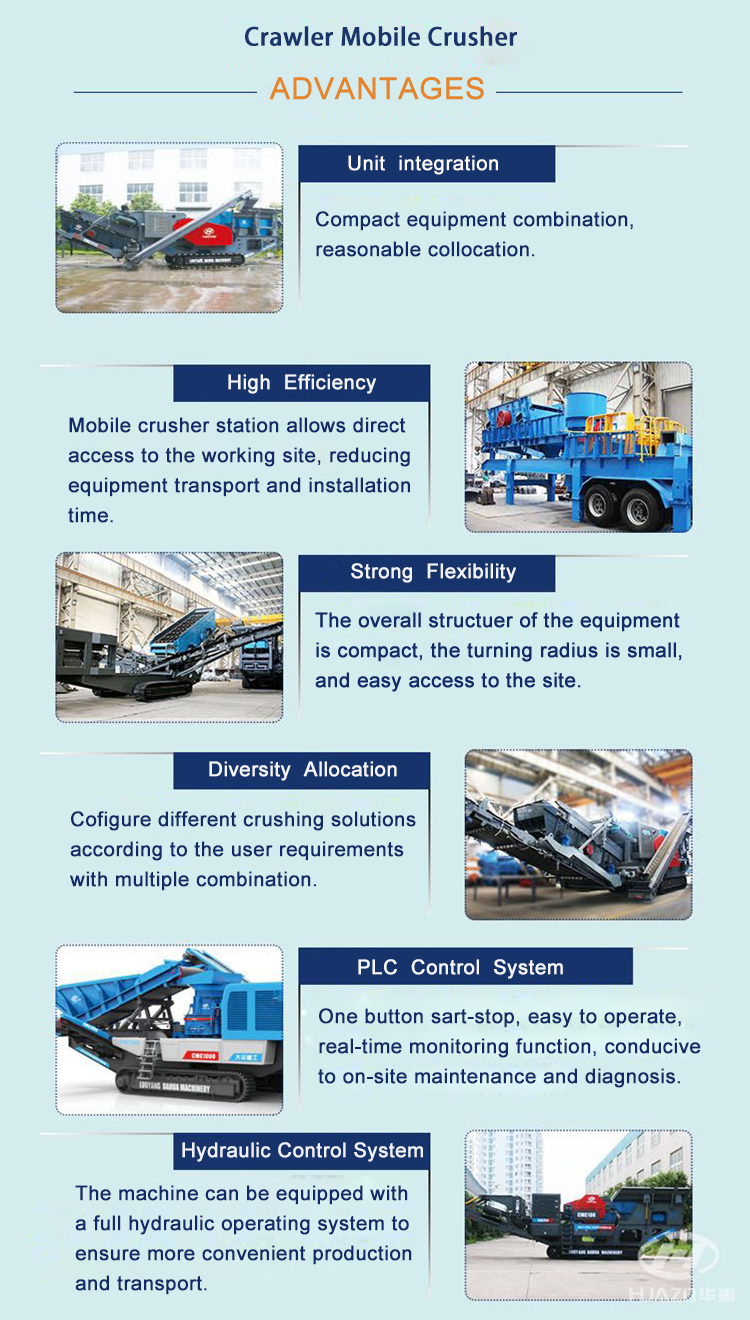 advantages of mobile crushing station plant