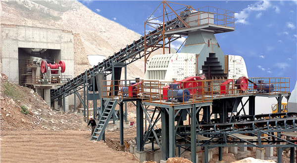 crushing station for stone