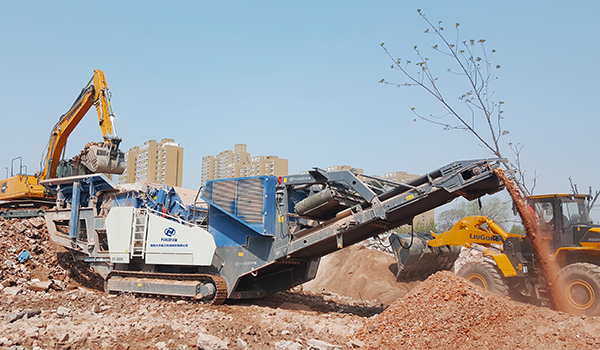 mobile crushing and screening station
