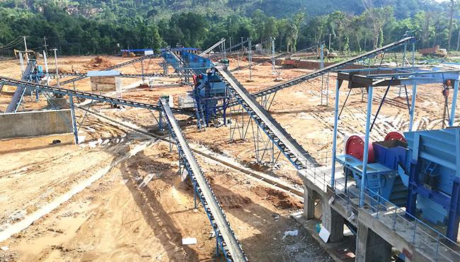 stone crusher machine production site