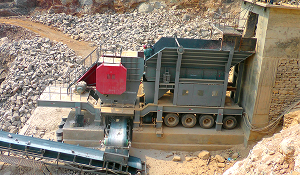 mobile crushing station production line